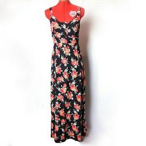 Floral Maxi Dress, Open Back Dress, Long Dress